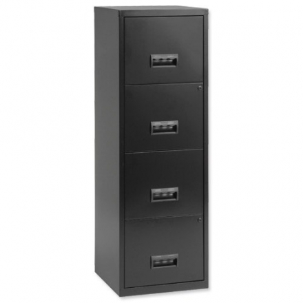 Pierre Henry 4 Drawers Maxi Filing Cabinet – Black
