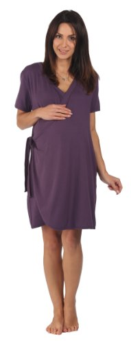 The Bamboo Birthing Wrap – Dark Plum – Large (Pre-pregnancy UK Size 14 – 16) – For Pregnancy, Labour
