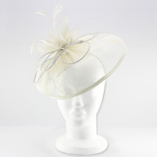 Beautifully Styled Millinery Hat Fascinator; Imposing Curves & Wide Brimmed Design for Weddings or t