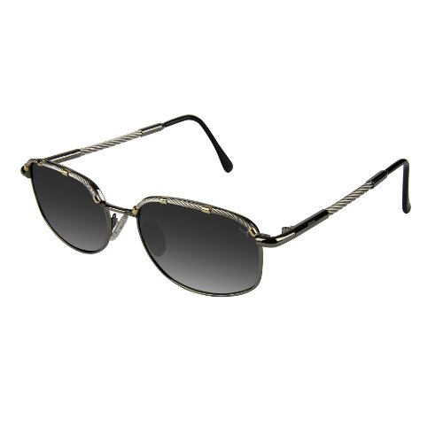 Xezo Airman Mens or Womens Titanium and Cable Steel Polarized UV 400 Pilot Sunglasses. Vintage Style