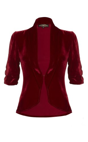 Lilliana jacket in deep red silk velvet