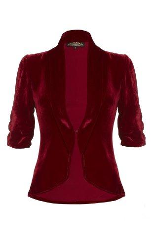 Lilliana jacket in deep red silk velvet