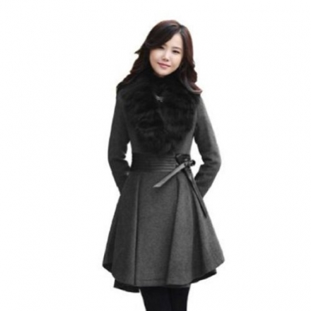 Women's Thicken Fleece Warm Faux Fur Warm Winter Coat Zip Hood Parka Overcoat Jacket With Wool Lined