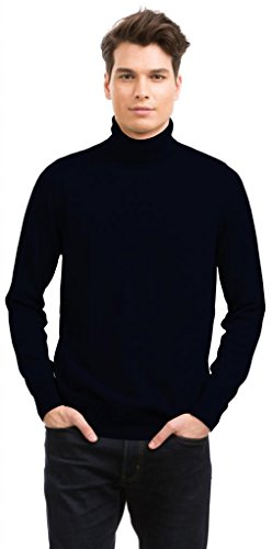 Men's Roll Neck Jumper – 100% Cashmere – Citizen Cashmere (Navy)