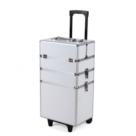 Songmics Trolley/Vanity Beauty Professional Stylish Aluminium Cosmetics Case Beauty set Box JHZ01W