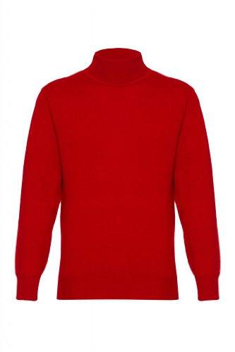 Mens Pure Cashmere Polo Neck Jumper