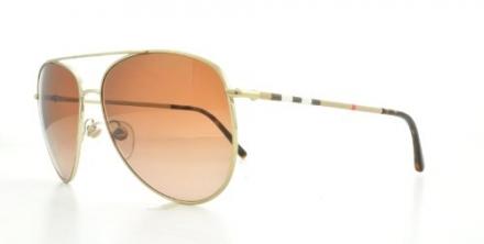 Burberry Sunglasses BE 3072 1145/13 Metal Light gold Gradient Brown