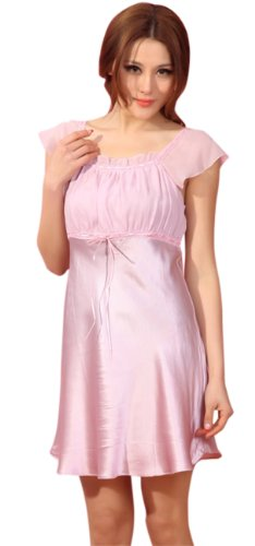 GPUFashion 100% Silk Nightgown Womens