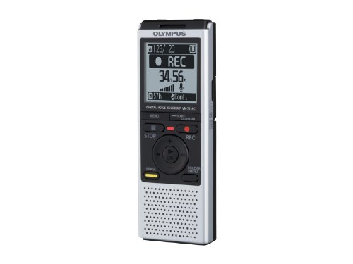 Olympus VN-732PC Digital Voice Recorder with 4GB Flash Memory, WMA, MP3 – Silver