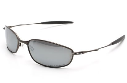 Oakley Whisker 4020 12-849 Pewter Black Iridium Polarized Sunglasses