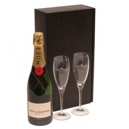 Champagne & Flutes Gift Set – Moet & Chandon