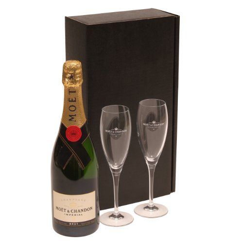 Champagne & Flutes Gift Set – Moet & Chandon