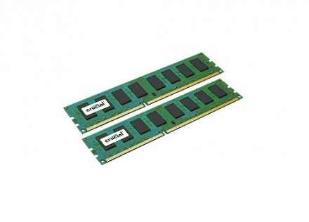 Crucial CT2KIT51264BA160B 8GB (2X4GB) DDR3 240 Pin 1.35V/1.5V PC3-12800 CL11 Unbuffered UDIMM Memory