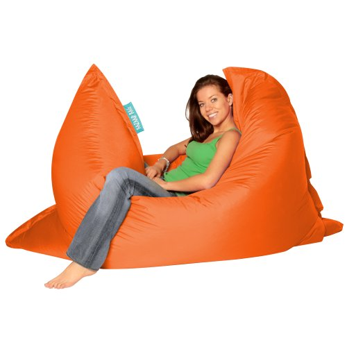 BAZAAR BAG ® – Giant Beanbag ORANGE – Indoor & Outdoor Bean Bag – MASSIVE 180x140cm – GREAT for Gar
