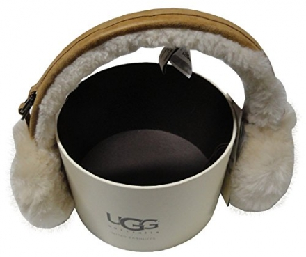 Women's UGG Australia Shearling Sheepskin Wired Earmuffs Tan