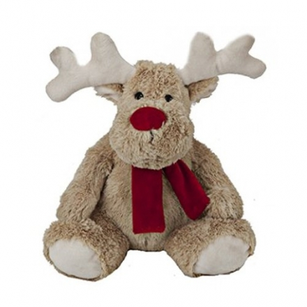 REINDEER CHRISTMAS PLUSH TOY SOFT CUDDLY XMAS GIFT CUTE KIDS 9″ NEW MERRY TEDDY