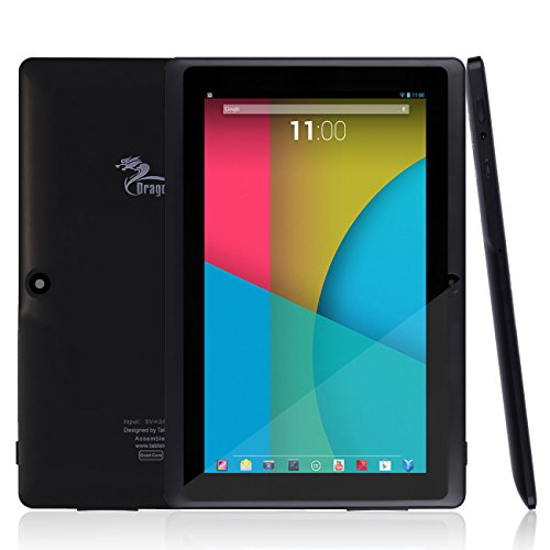 "Dragon Touch Y88X 7"" Tablet PC Quad Core Google Android 4.4 KitKat, Allwinner A33 Cortex A7, Dual C"