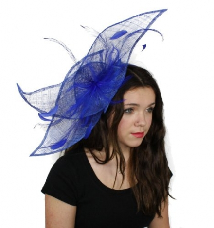 Viktoria Sinamay Ascot Fascinator Hat Available in Many Colours – With Comb or Headband