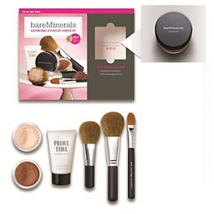 GOLDEN MEDIUM BareMinerals 8-Piece Get Started Kit – Set includes: 1x Original Mineral Veil, 1x Warm