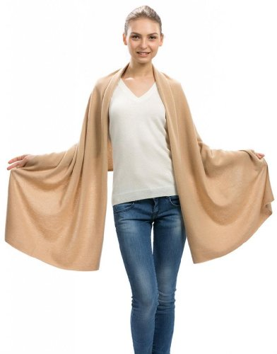 Women's Camel Cashmere Wrap – 100% Cashmere – by Citizen Cashmere
