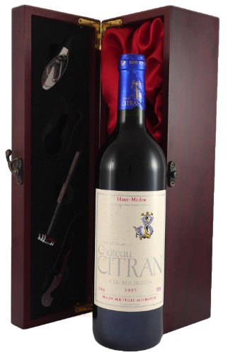 1995 Chateau Citran Haut Medoc Cru Bourgeois Vintage Wine presented in a silk lined wooden box with