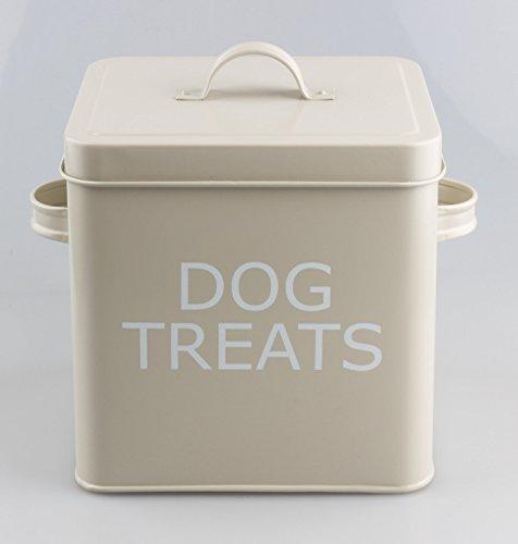 Vintage Retro Style Dog Treats Tin Box with Lid