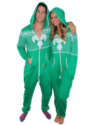 Tipsy Elves Ugly Christmas Jumper – Reindeer Matchmaker Jumpsuit