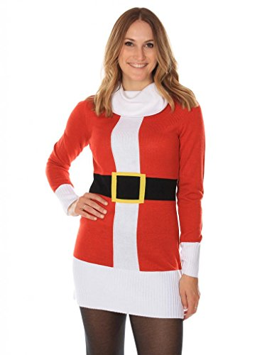 Women's Christmas Jumper Dress – Cute Santa Dress by Tipsy Elves