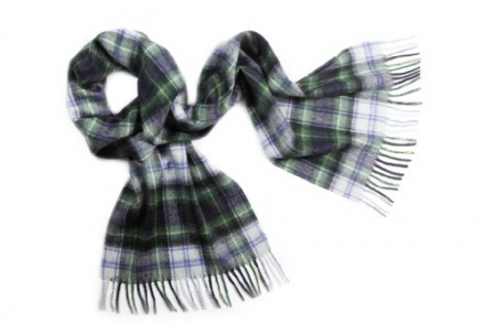 Pure Cashmere Tartan Scarf, Dress Gordon
