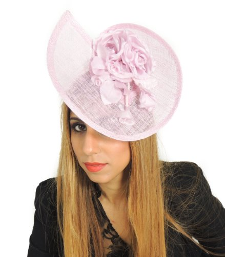 Gorgeous Peony with Silk Flowers Ascot/Derby Fascinator Hat – With Headband – Available in Different
