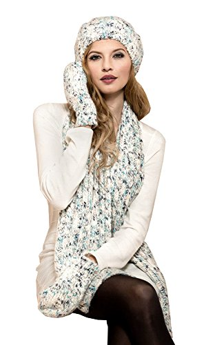Ladies Luxury Soft Wool 3 piece Beanie, Scarf, Mittens Set – Darcy