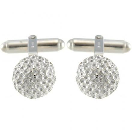Sterling Silver Golf Ball Cufflinks & Gift Box