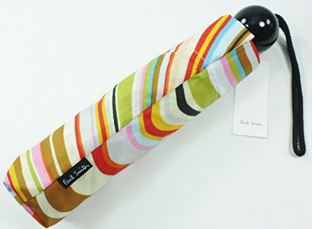 New PAUL SMITH Signature Multi Stripe Swirl Umbrella