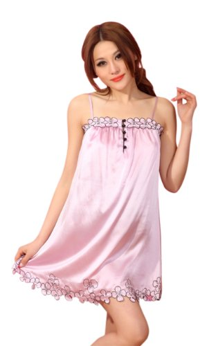 GPUFashion 100% Silk Sleep Chemise Womens