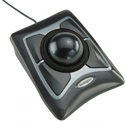 Kensington Expert Mouse Optical Wired USB Trackball for PC and Mac – Silver and Black