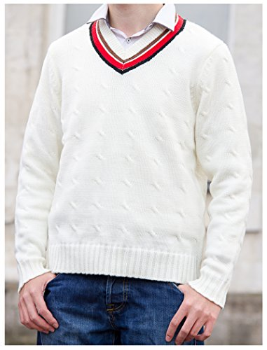 Fifth Doctor (Peter Davison) Sweater – Official BBC Doctor Who 5th Doctor Cricket Jumper by LOVARZI