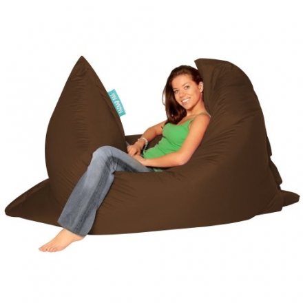 BAZAAR BAG ® – Giant Beanbag BROWN – Indoor & Outdoor Bean Bag – MASSIVE 180x140cm – GREAT for Gard