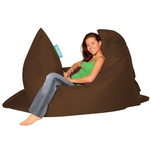 BAZAAR BAG ® – Giant Beanbag BROWN – Indoor & Outdoor Bean Bag – MASSIVE 180x140cm – GREAT for Gard