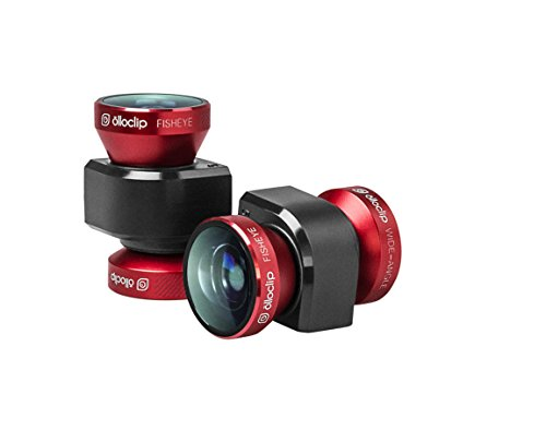 olloclip 4-in-1 Quick Fisheye Connect Lens for iPhone 5/5S – Red