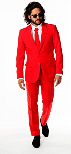 Mens Red Devil Opposuit. High Quality Designer Suit – Jacket UK42 Chest 43″