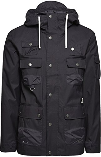 Jack & Jones Gift Lightweight Hooded Parka Jacket Black