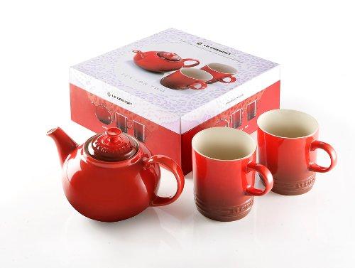 Le Creuset Stoneware Tea for Two Set, Cerise