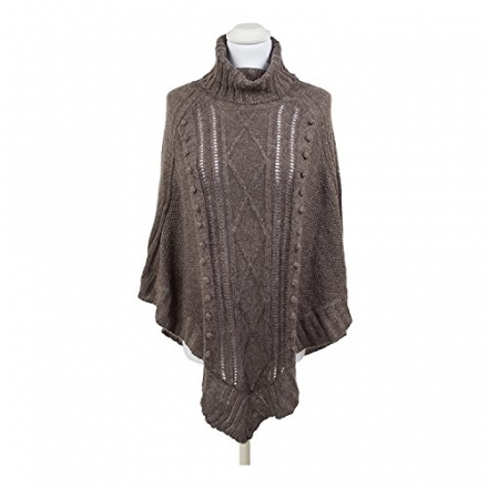 Alina Supersoft Knitted Poncho