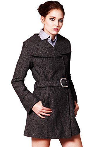 Adele Ross Women's Trench Coat Winter Woollen H1022 with Belt