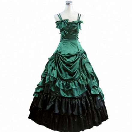 Women Short Sleeve Prom Gothic Dress