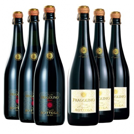 Le Bon Vin Fragolino Red and White Wine Mixed Case Non Vintage 75 cl (Case of 6)
