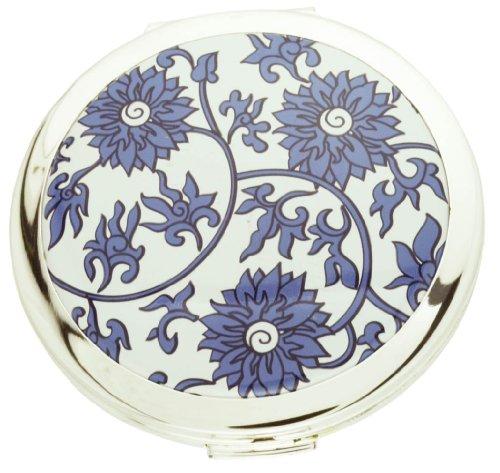 Stratton China Flower – Gilt Dual 3 x Magnification Mirror