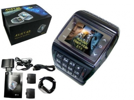 2013 Newest Avatar 1.3 inch mobile phone wrist watch (bluetooth, mp3/mp4 player, phone, gadget),Free