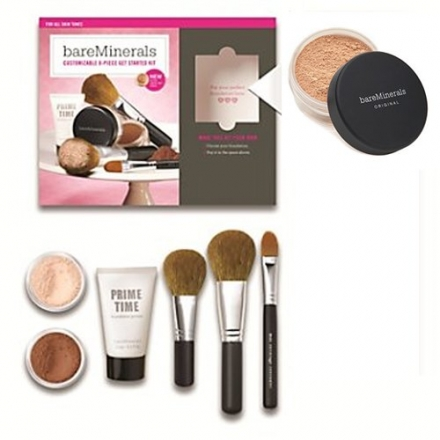 MEDIUM BEIGE BareMinerals 8-Piece Get Started Kit – Set includes: 1x Original Mineral Veil, 1x Warmt