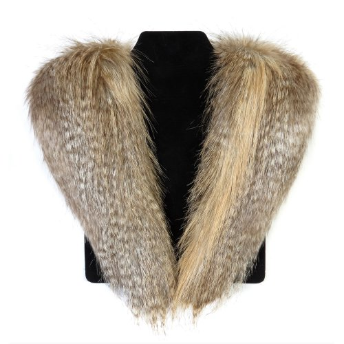 Moore and Moore Faux Fur Collar (Siberian Wolf)
